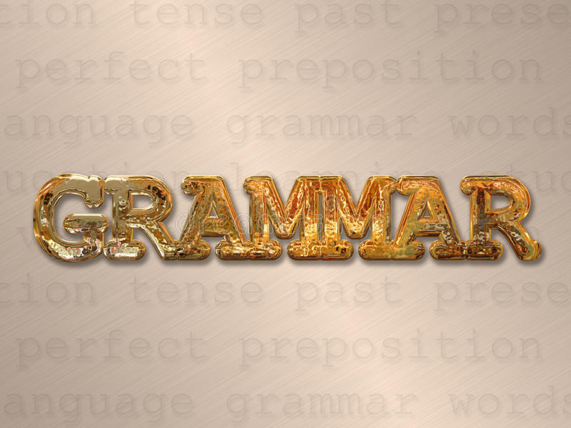 Englische Grammatik lizenzfreie abbildung