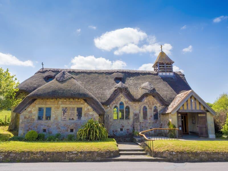 Englische Häuschenkirche stockfotografie