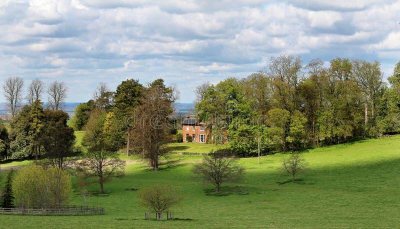 Englische landwirtschaftliche Landschaft stockfoto