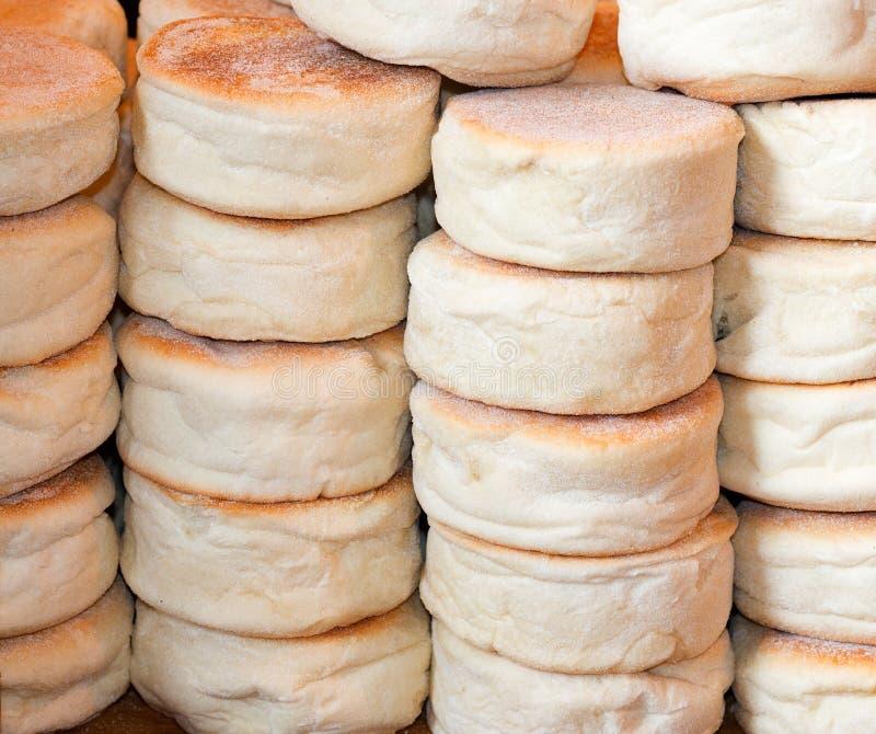 Englische Muffins stockbilder