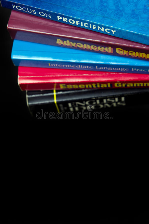 Englische Sprachbuch stockfotografie