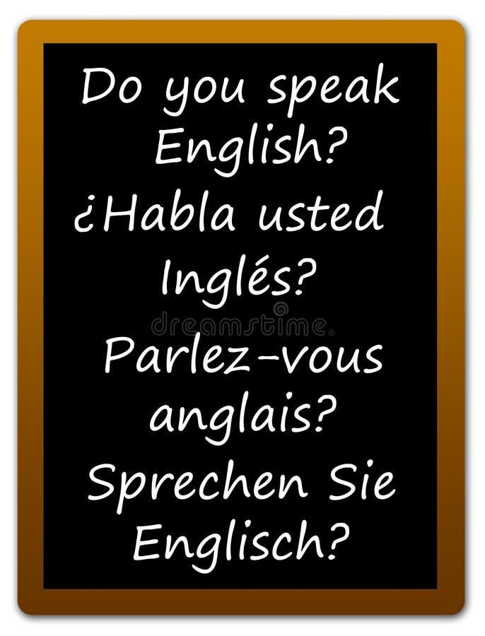 Englische Sprache stock abbildung