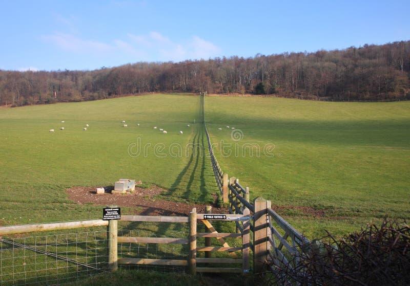 Englische Winter-Landschaft lizenzfreie stockbilder