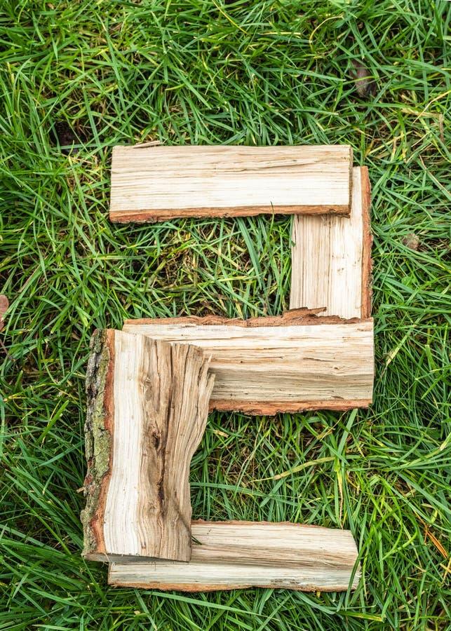 Englischer Buchstabe vom Alphabet gemacht von der natürlichen Eiche lizenzfreie stockbilder