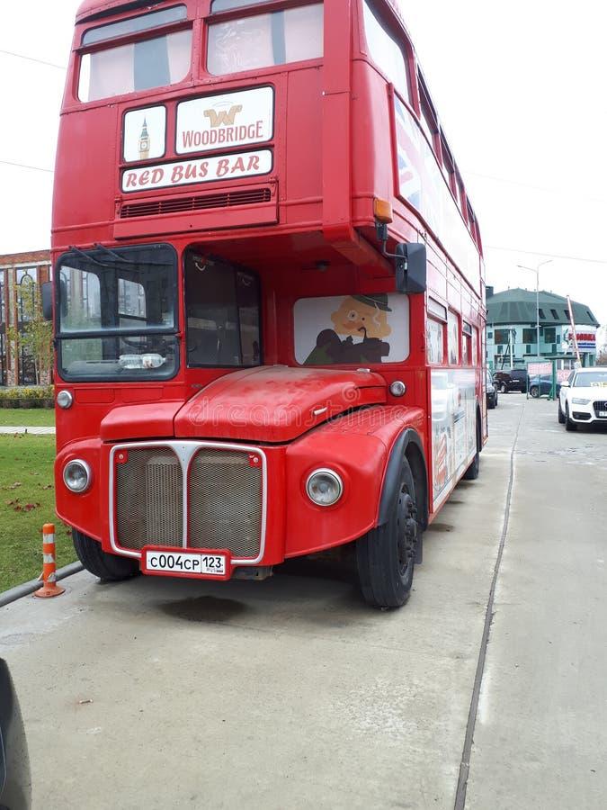 Englischer Bus stockbild