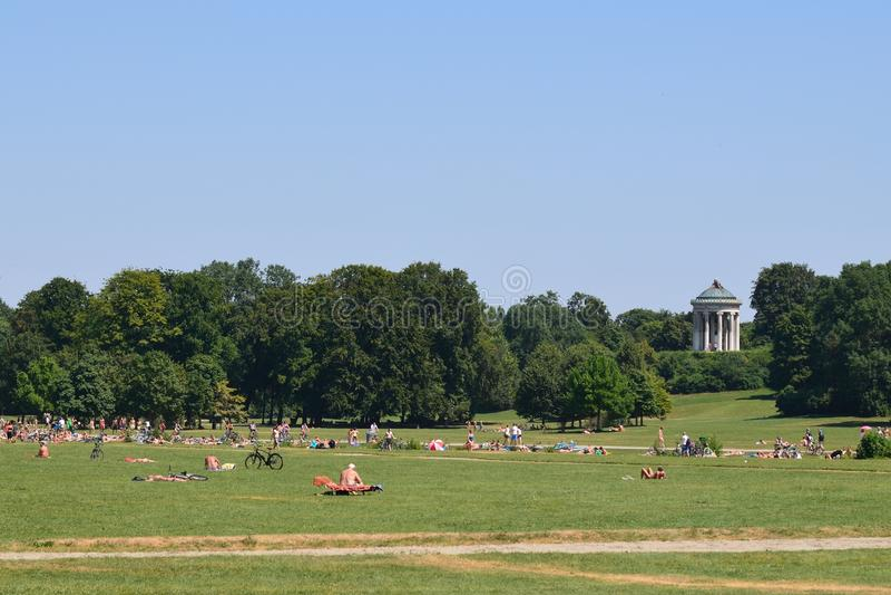 Englischer Garten Munich imagen de archivo