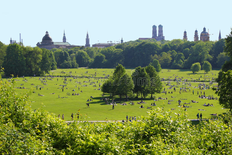 Englischer Garten - Munich imagenes de archivo