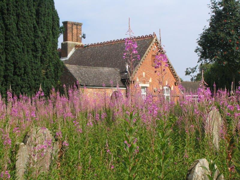 Englischer Landschaft-Friedhof stockfotos