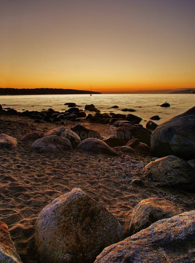 Englischer Schacht-Sonnenuntergang lizenzfreie stockfotos
