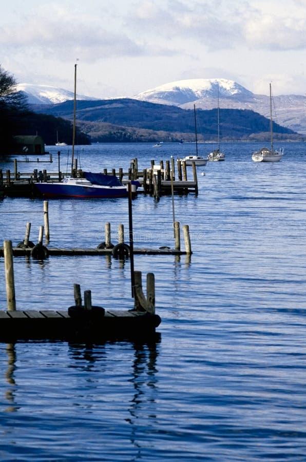 Englischer Seebezirk der Lake Seen stockfotos