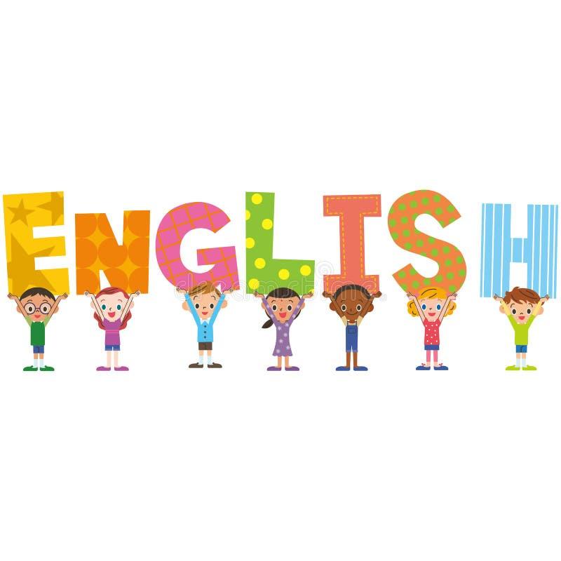 Englischer Titel und Kinder lizenzfreie abbildung