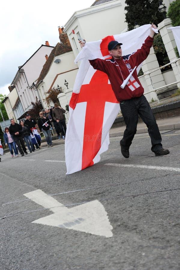 Englischer Verteidigung-Liga-Protest stockfoto