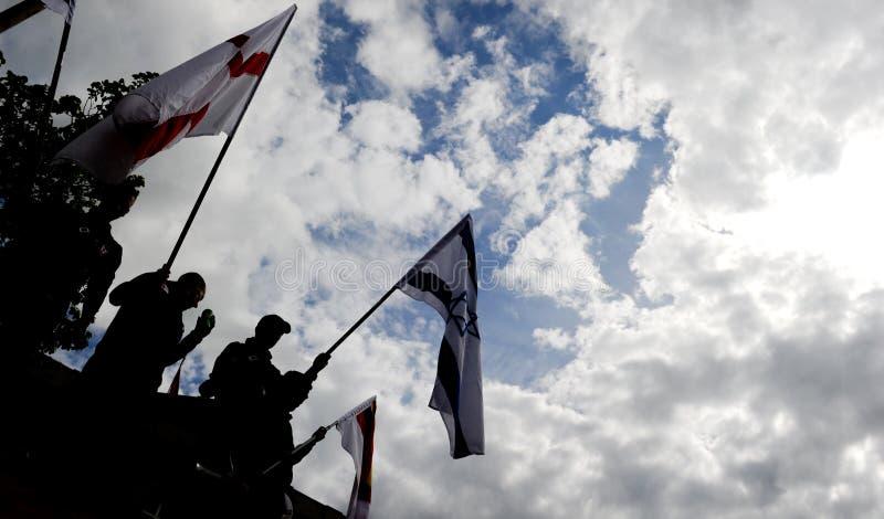Englischer Verteidigung-Liga-Protest lizenzfreie stockbilder