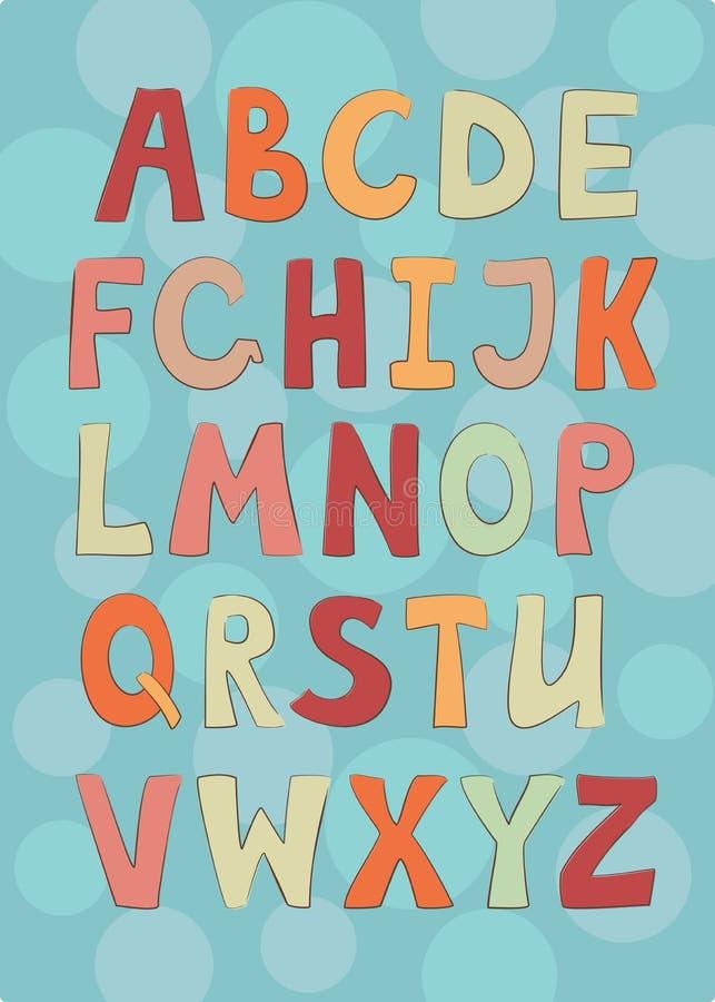 Englisches Alphabet vektor abbildung