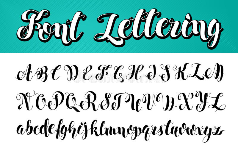 Englisches Alphabet Schwarzweiss-Beschriftung stock abbildung
