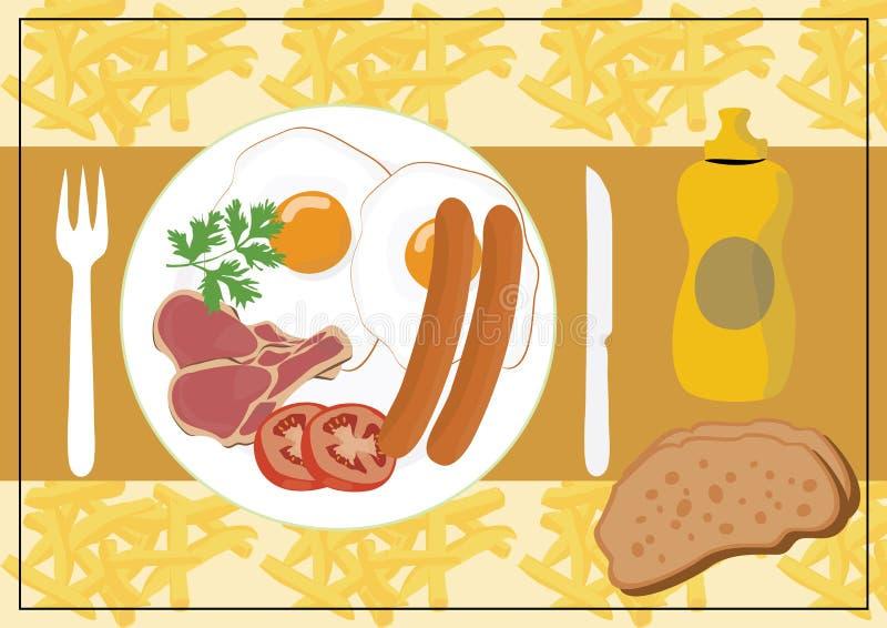Englisches Frühstück vektor abbildung
