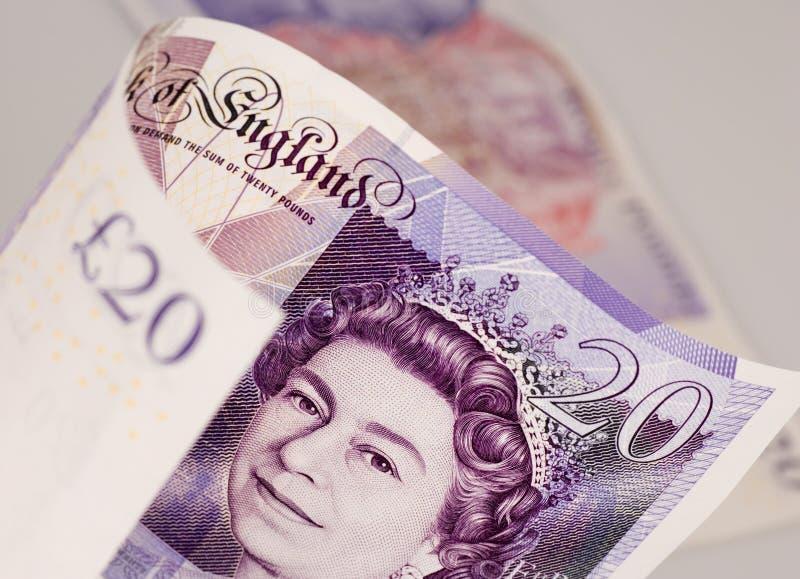 Englisches Geld stockfoto