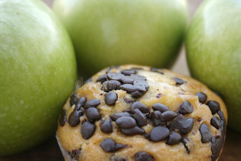 Englisches Muffin und Äpfel lizenzfreie stockfotos