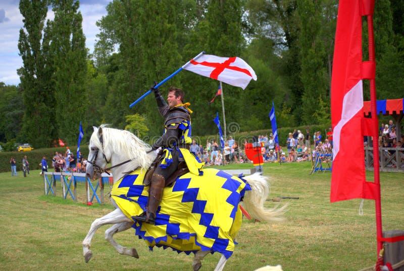Englisches Ritter-Hever Castle Jousting-Turnier lizenzfreie stockbilder