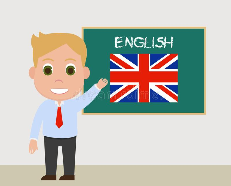 Englischlehrervektor stockfotos
