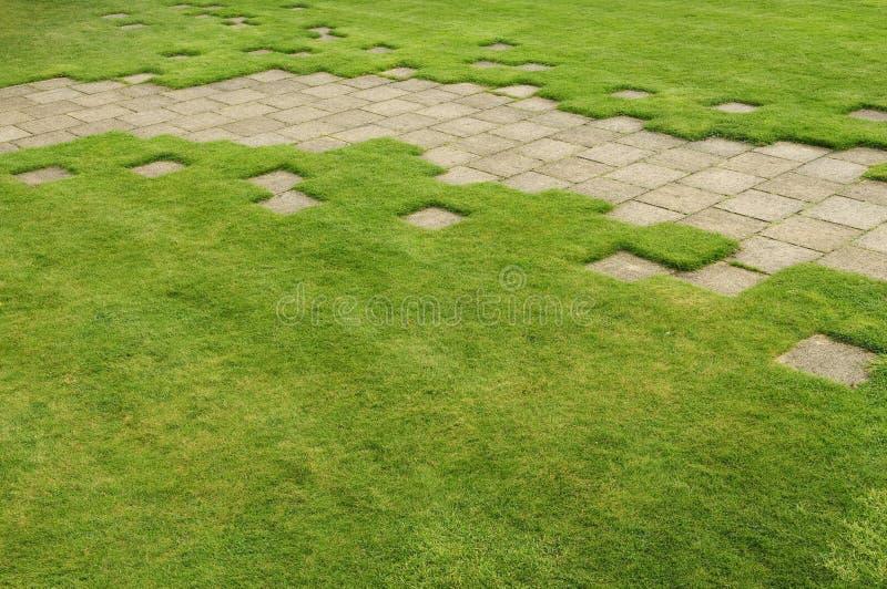 Englisg garden path and lawn