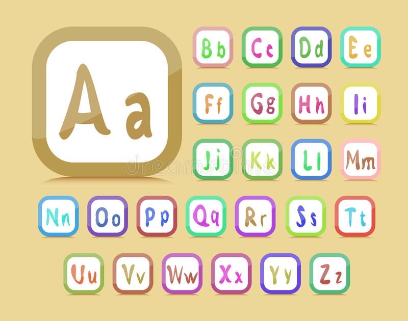 Download English alphabet stock vector. Illustration of english - 24116762