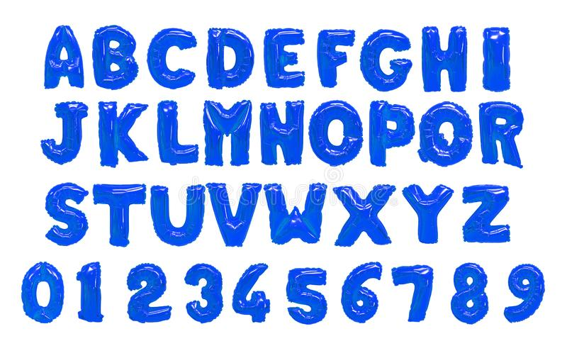 English alphabet blue royalty free stock images
