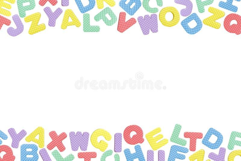 English Alphabet Frame Isolated On White Background Stock