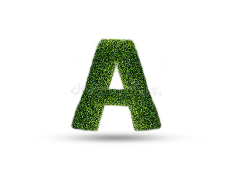 The English alphabet from leaves of tree royalty free stock photo