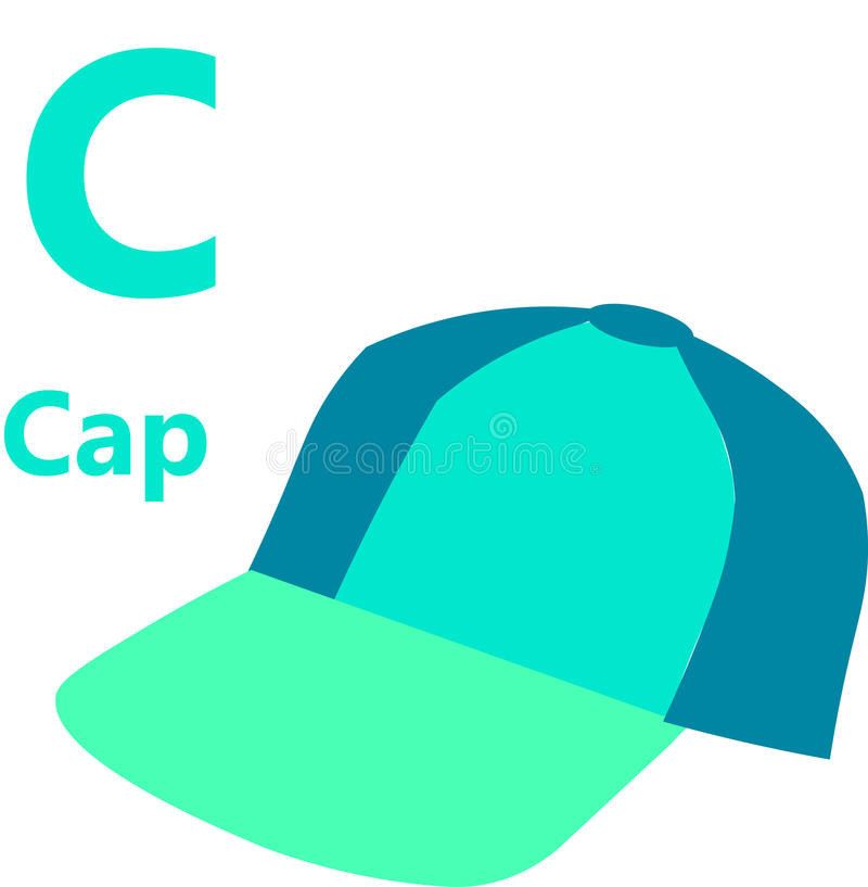 English alphabet letter c for cap royalty free stock photo