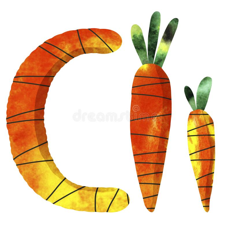 English alphabet letter C vector illustration