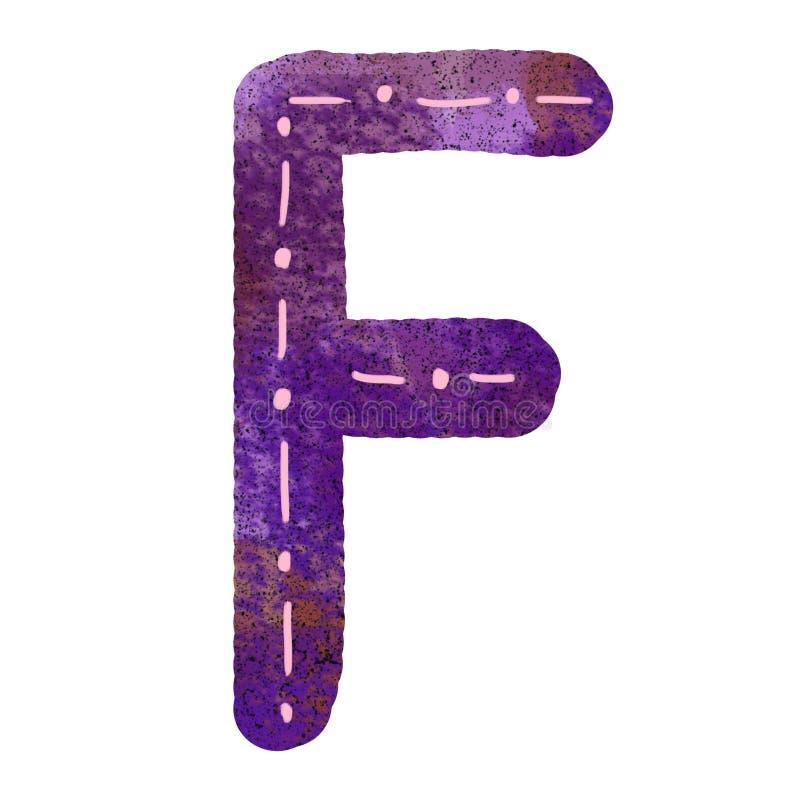 English alphabet letter f stock illustration