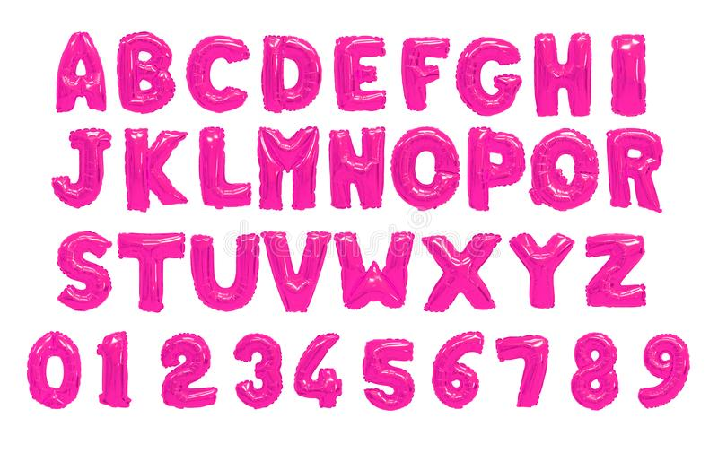 English alphabet pink royalty free stock photography