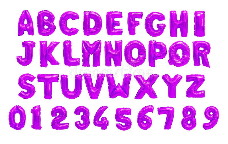 English alphabet purple, violet royalty free stock photos