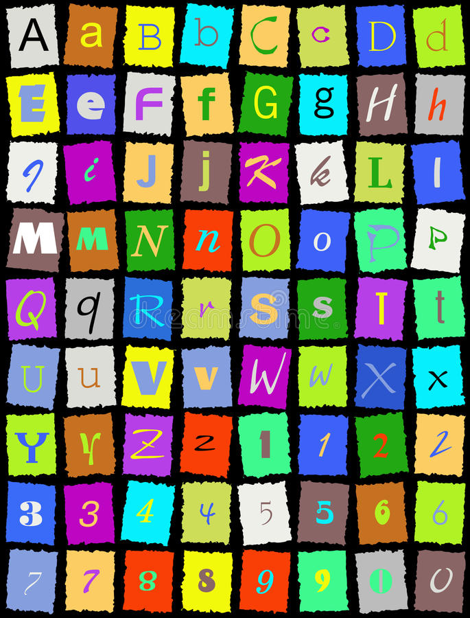 Download English Alphabet Over Black Stock Vector - Image: 15241743