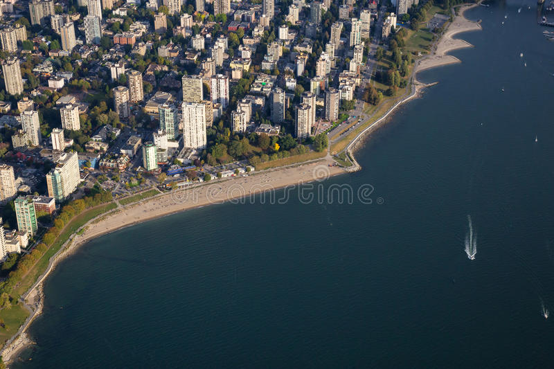 English Bay Vancouver Aerial royalty free stock photography