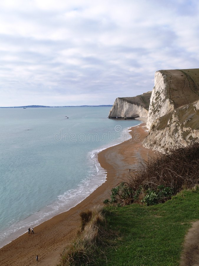 English Beach Landscape, Dorset stock photos