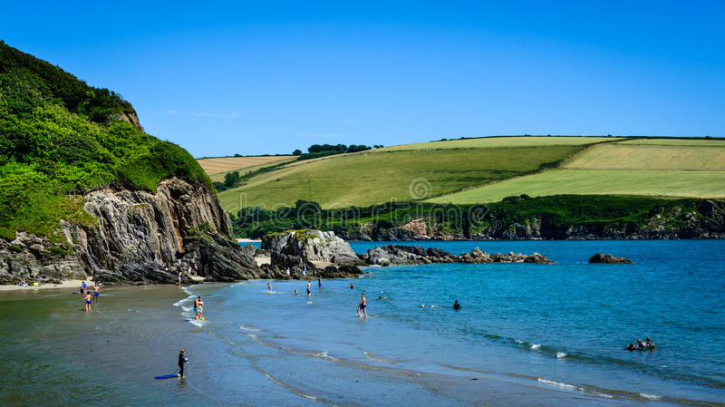 English beach - Mothecombe royalty free stock image