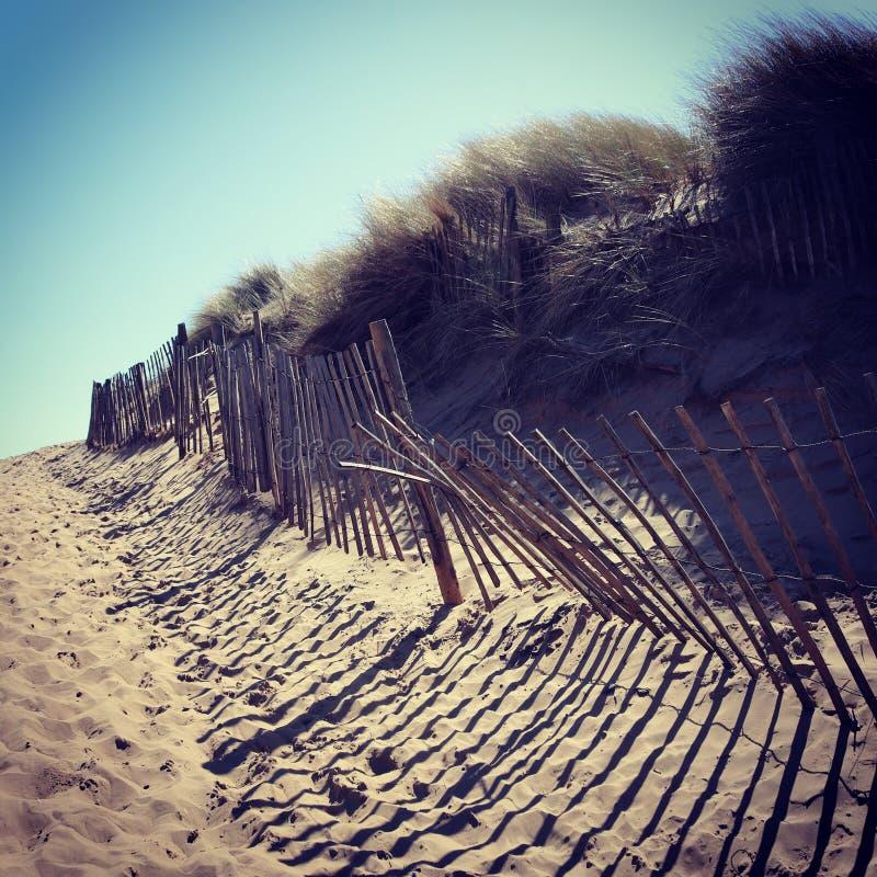 English beach scene. With sun, sand and sea royalty free stock photo