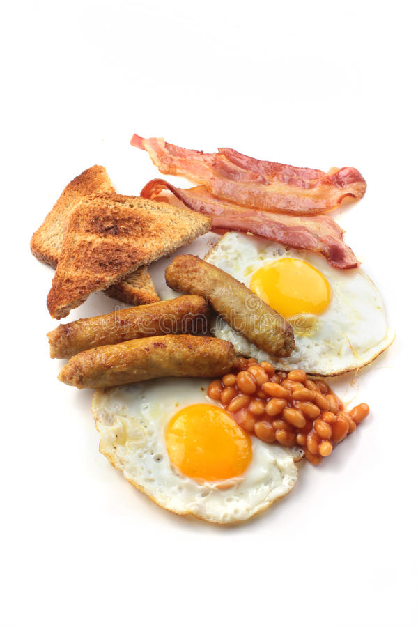 Download English breakfast stock image. Image of beans, unhealthy - 23668583