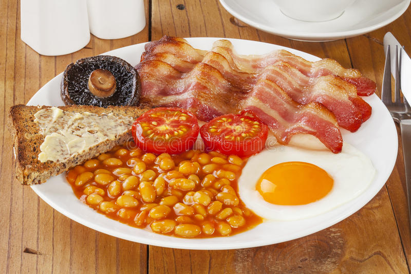 Download English Breakfast stock image. Image of food, beans, toast - 25647729