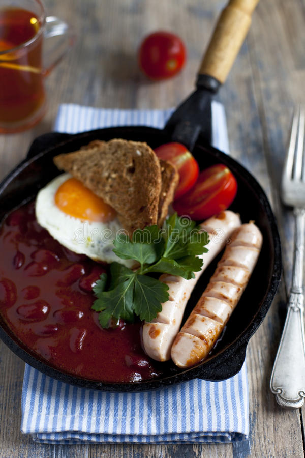 Download English breakfast stock image. Image of overweight, cooked - 27585491
