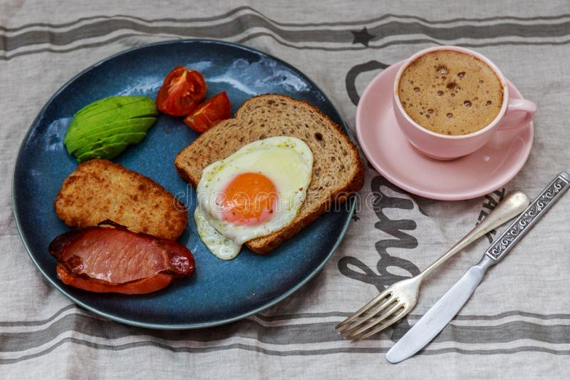 English Breakfast Close Up royalty free stock images