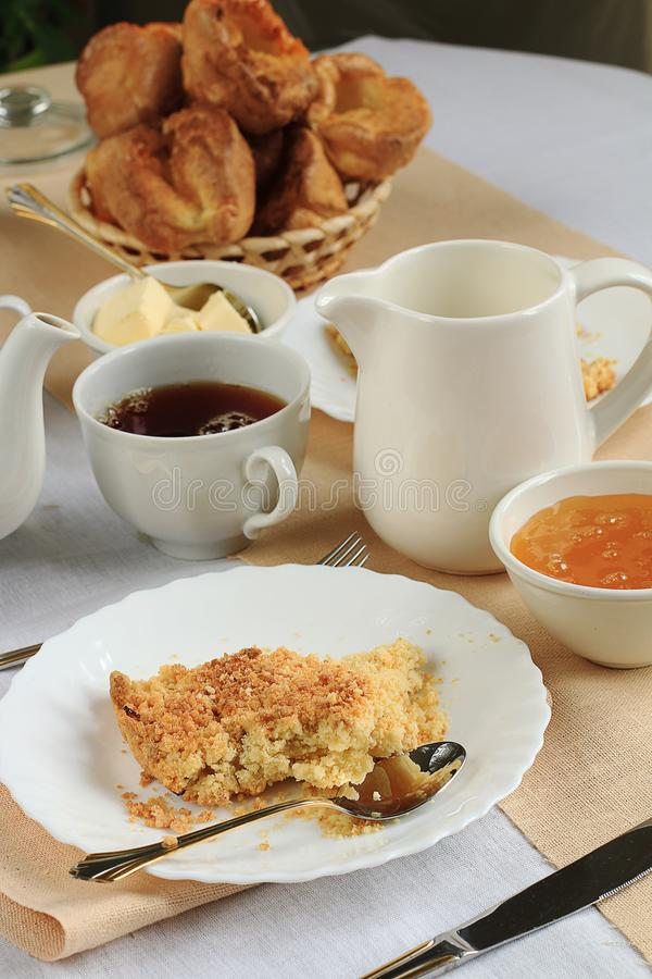 English breakfast postcard background stock images