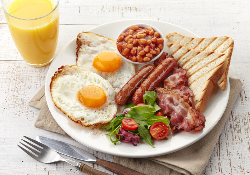 English breakfast stock image