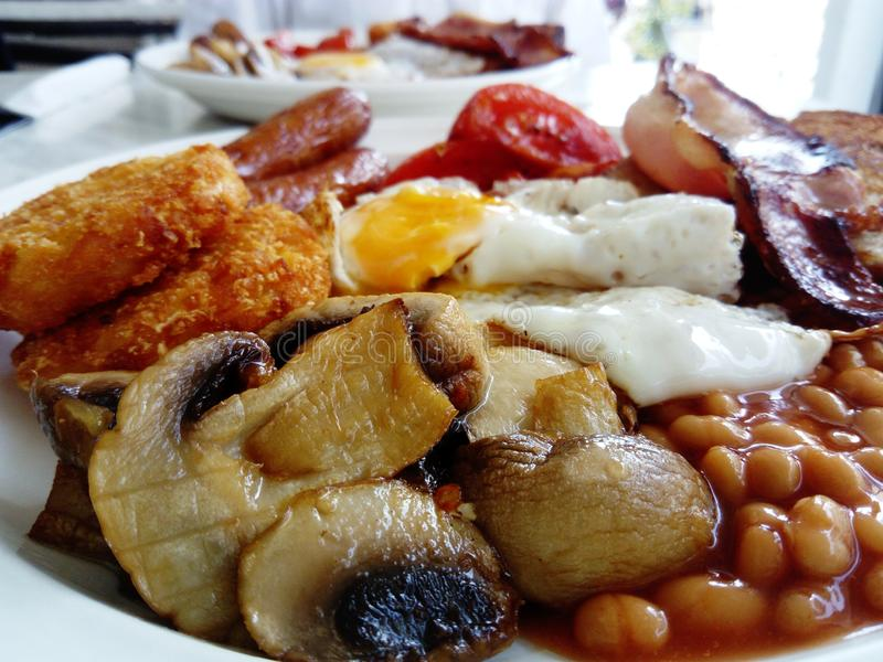 English breakfast close up stock images
