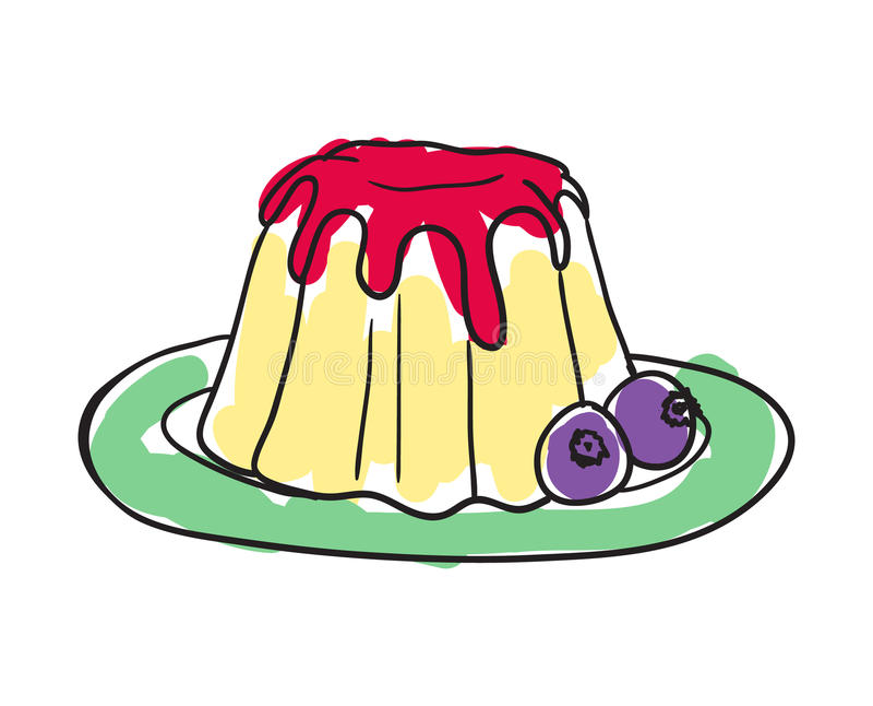 English cake hand drawn isolated icon royalty free illustration