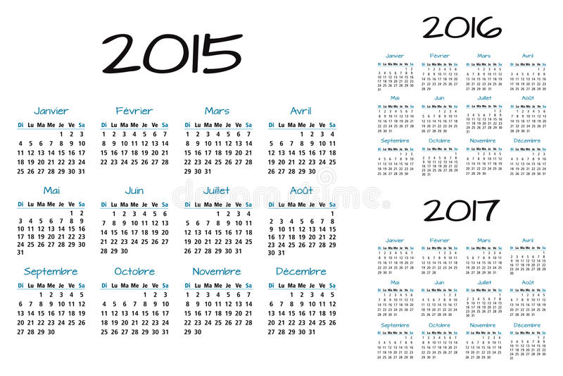 English Calendar blue and black royalty free illustration
