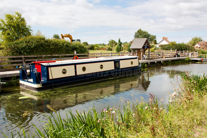 English Canal. Boats moored on an English Canal royalty free stock photography