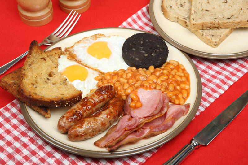 English Cooked Breakfast stock photography